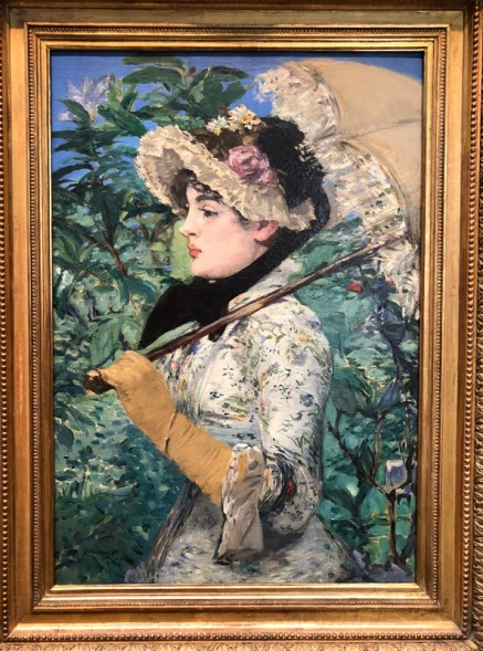 Edouard Manet - Spring (courtesy: Getty Museum)