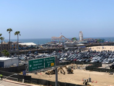 A distant view on Santa Monica Pier.
