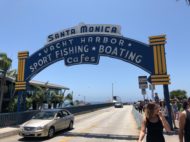 Entrance to Santa Monica Pier