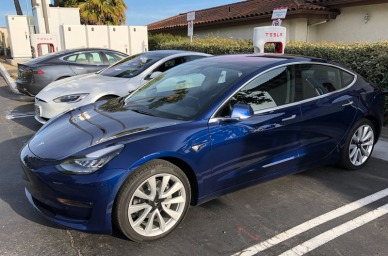 Model 3 spotted at Buellton supercharger