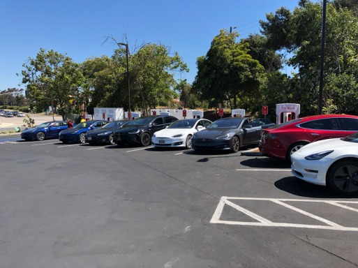 Tesla owners gathering at San Luis Obispo