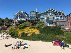 Beach houses at Capitola Village