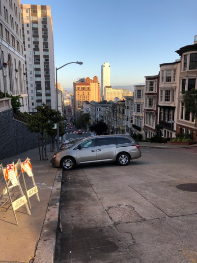 Some of the streets in San Francisco are very steep