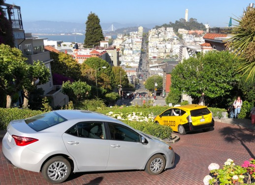 Panorama of San Francisco from Lombard Street
