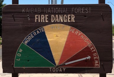 A good reminder that the fire threat is very real during dry season.